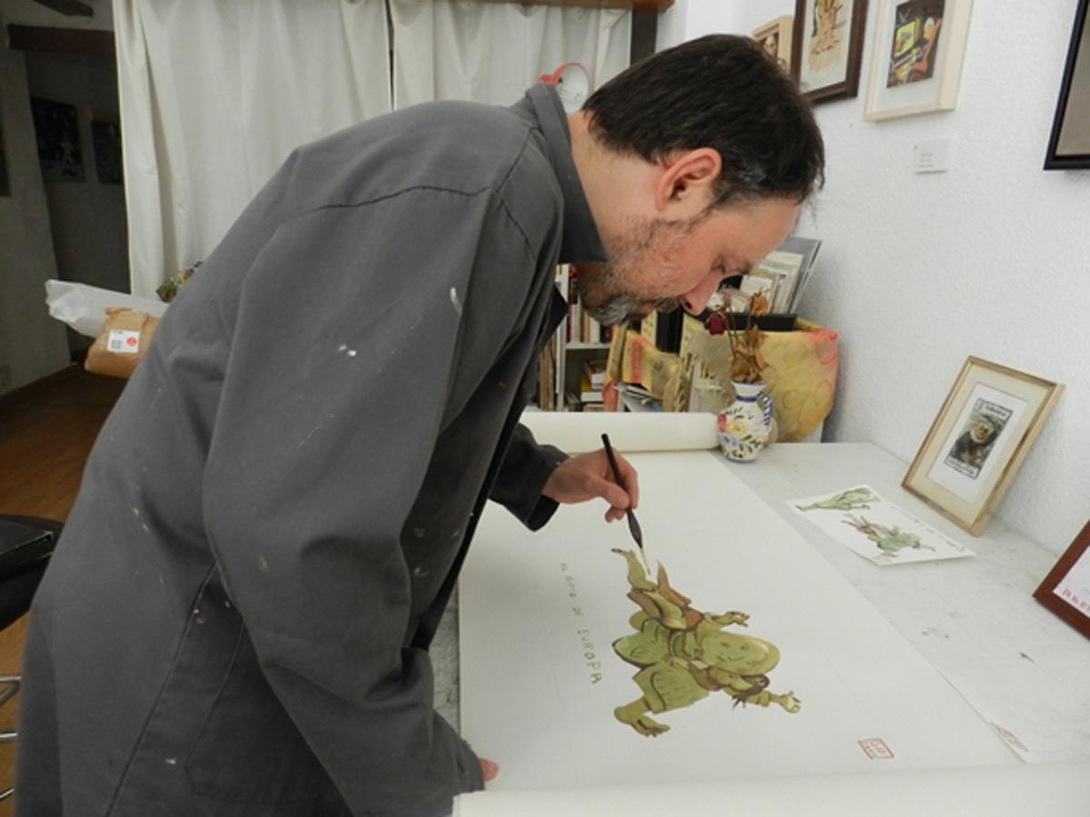 Gabriel Alonso en su estudio.