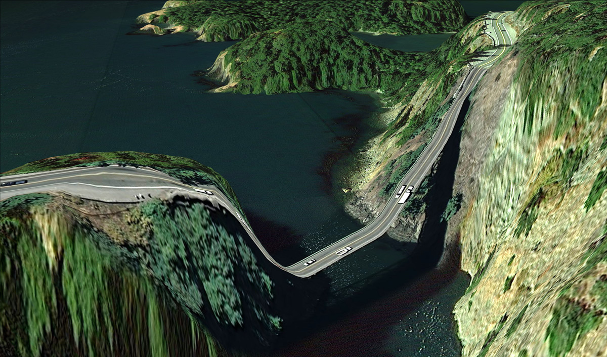 (02) Postcards from Google Earth de Clement Valla.