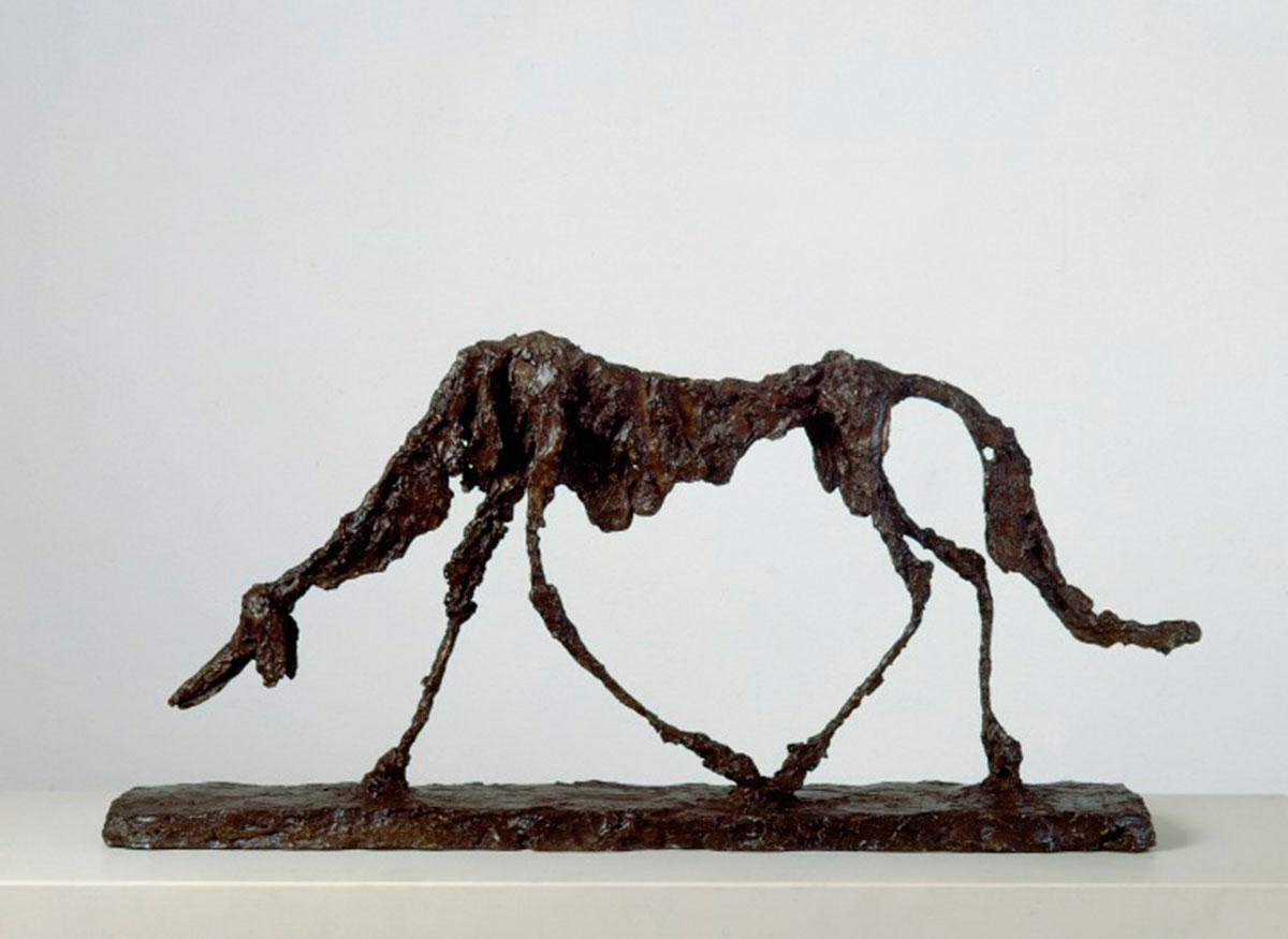 The Dog 1951 Kunsthaus Zürich, Alberto Giacometti Stiftung (inv.47) © Alberto Giacometti estate / ACS+DACS in the UK