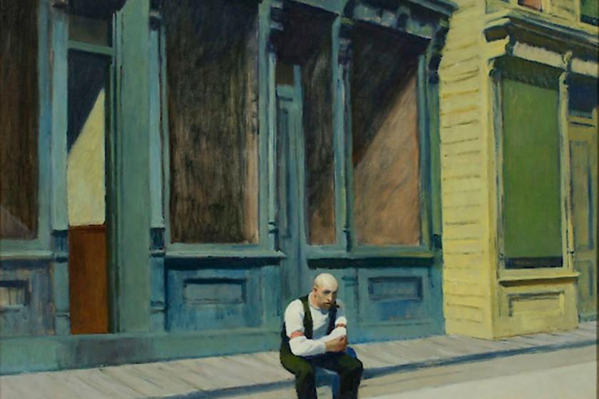 Edward Hopper: Sunday, 1926, Phillips Collection, Washington D.C.