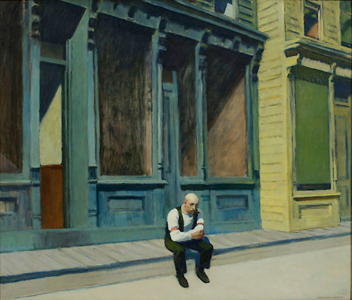 Edward Hopper: Sunday, 1926, Phillips Collection, Washington D.C.