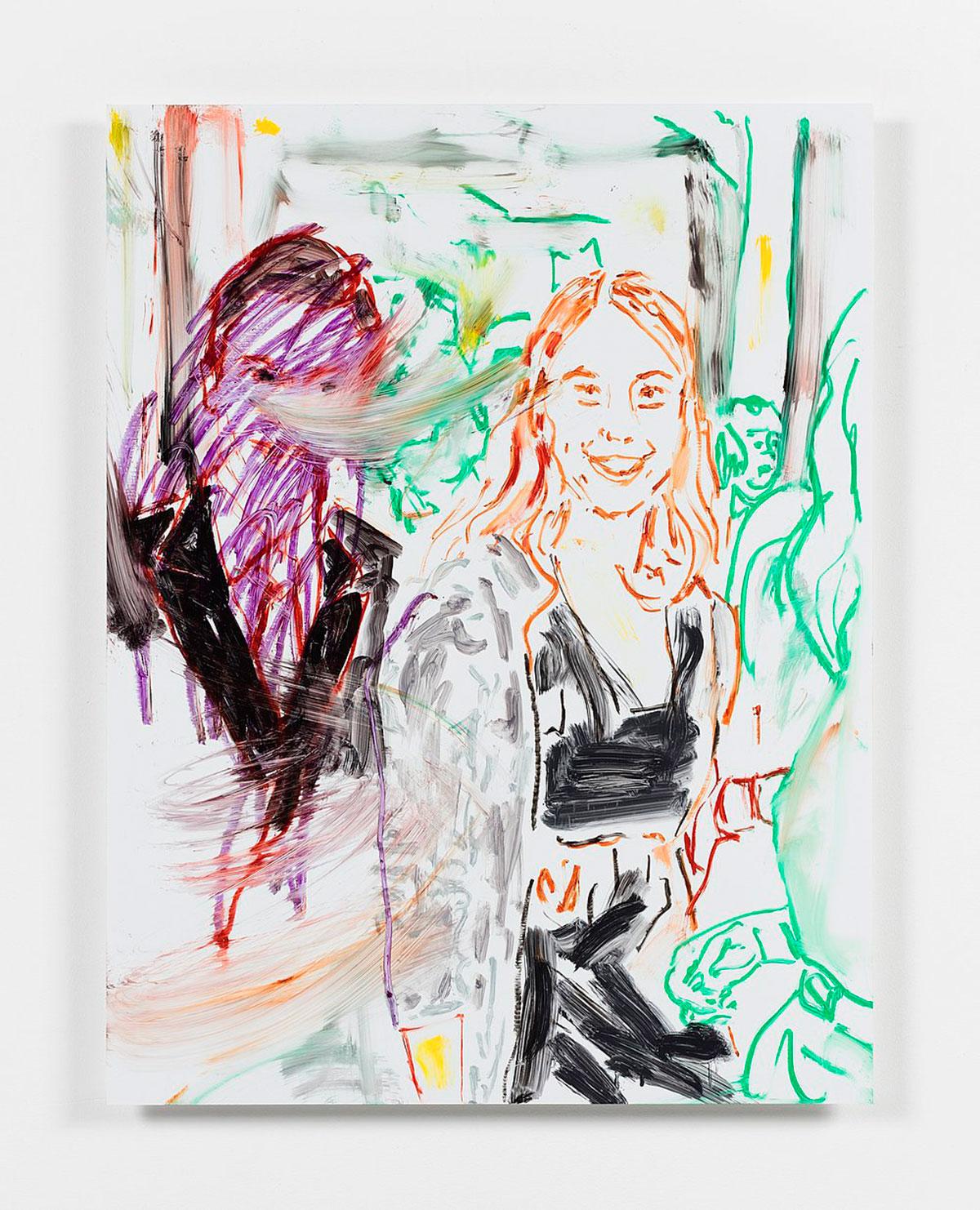 Reena Spaulings, Advisors, Detail 9 (Lisa Marks), 2016, Acrylfarbe auf Dibond, 86,4 x 66 cm, © Courtesy of the artist, Private Sammlung und Campoli Presti, London/Paris