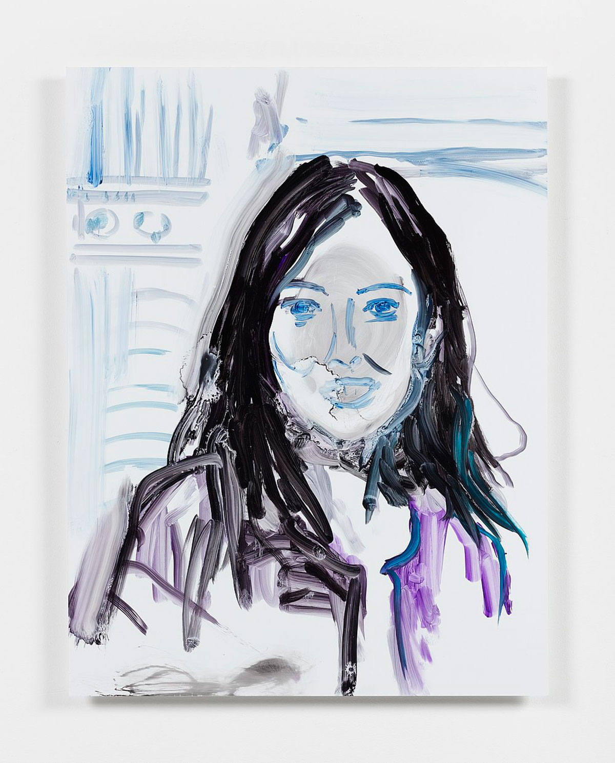 Reena Spaulings, Advisors, Detail 12 (Suzanne Modica), 2016, Acrylfarbe auf Dibond, 86,4 x 66 cm, © Courtesy of the artist, Private Sammlung und Campoli Presti, London/Paris
