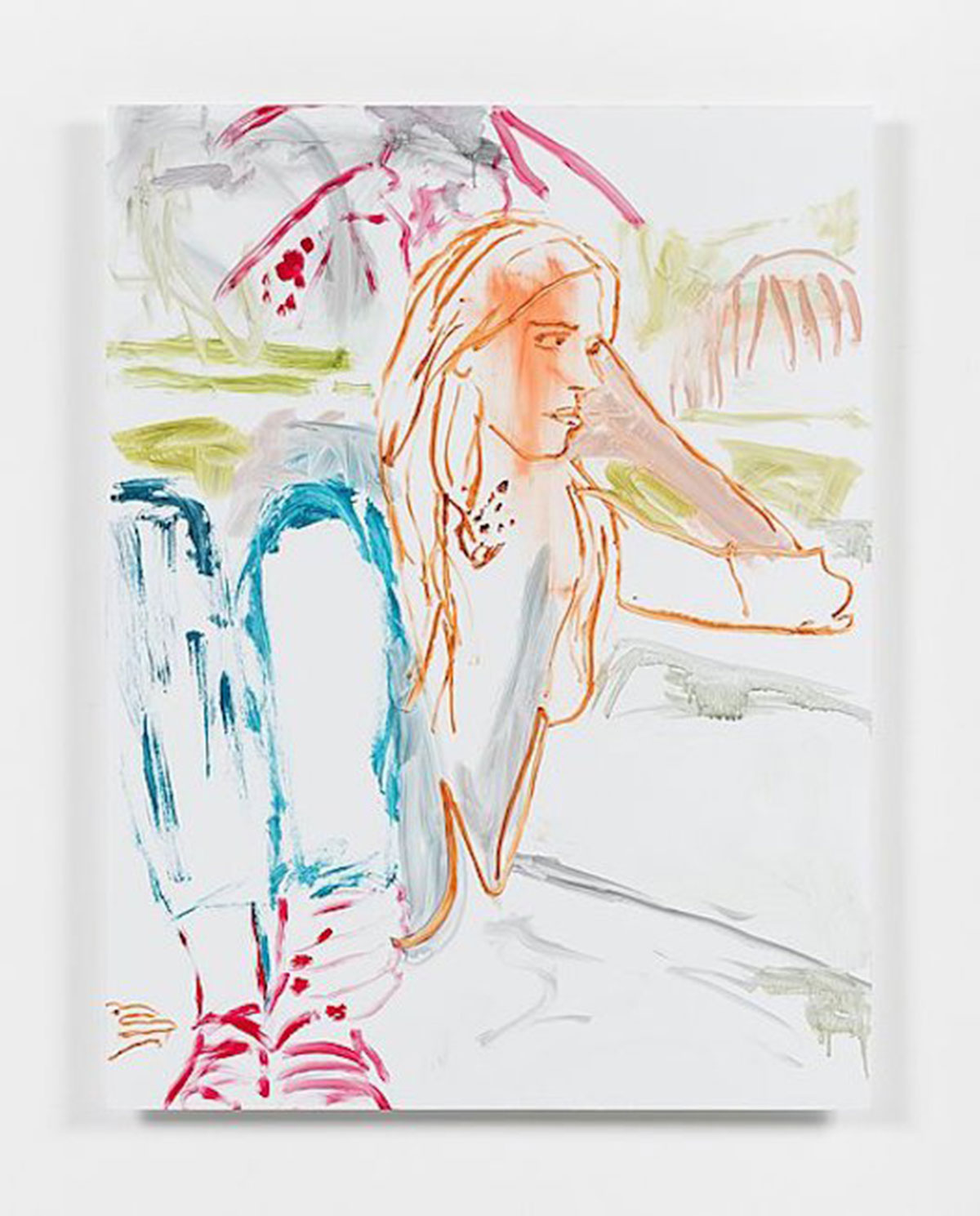 Reena Spaulings, Advisors, Detail 1 (Eleanor Cayre), 2016, Acrylfarbe auf Dibond, 86,4 x 66 cm, © Courtesy of the artist, Private Sammlung und Campoli Presti, London/Paris