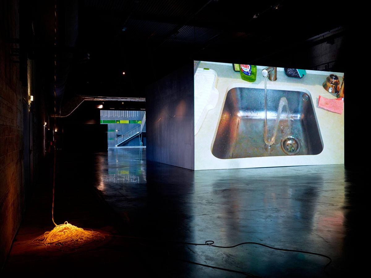 Exhibition views of /\/\/\. Photos: Le Grand Café.