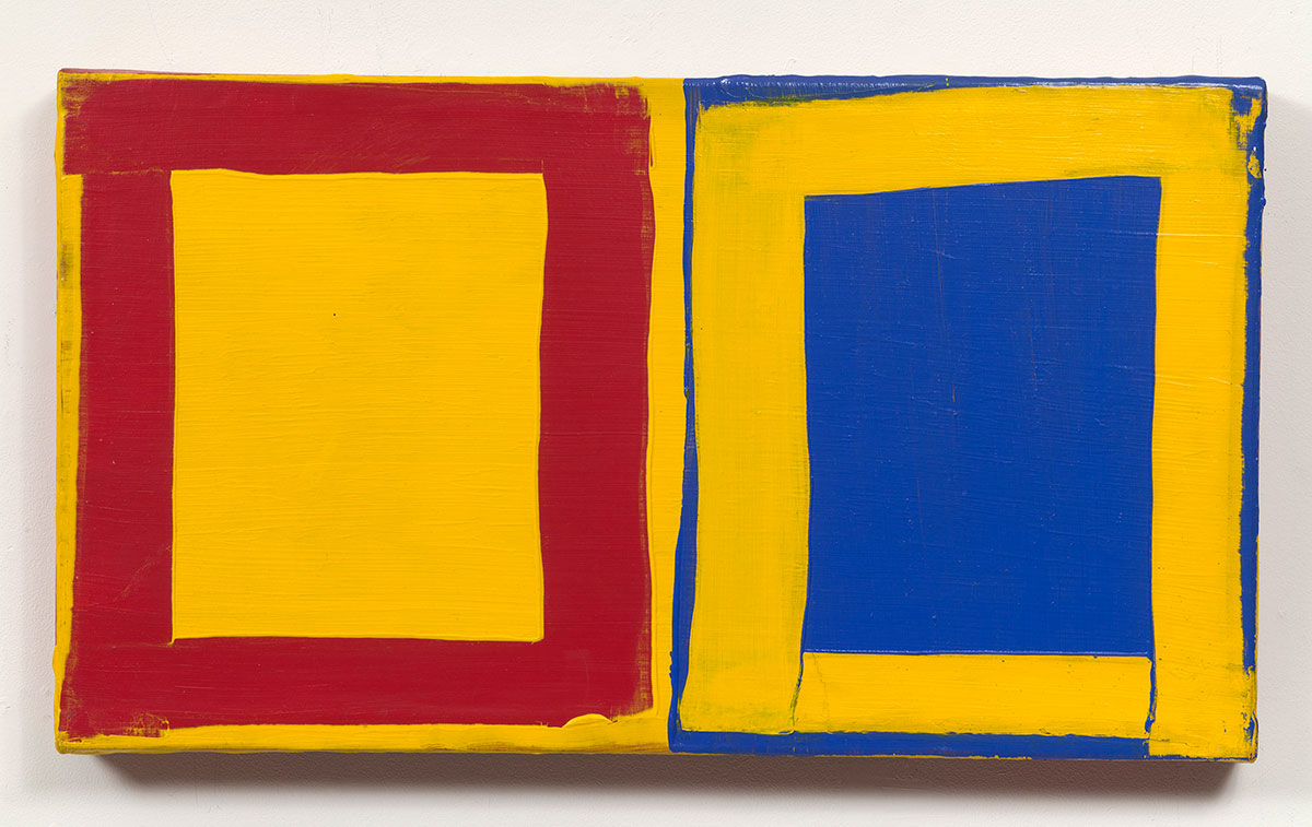 Mary Heilmann, Little Three for Two: Red, Yellow, Blue, 1976. © Mary Heilmann. Photo: Thomas Müller.
