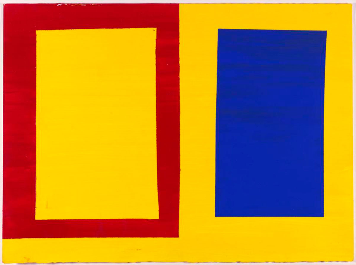 Mary Heilmann's Horizontal Yellow, Red and Blue, 1976. Courtesy of Craig F. Starr gallery.