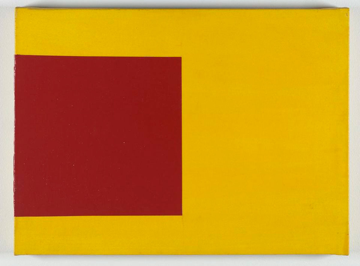 Sliding Square #1, 1978 Private collection © Mary Heilmann