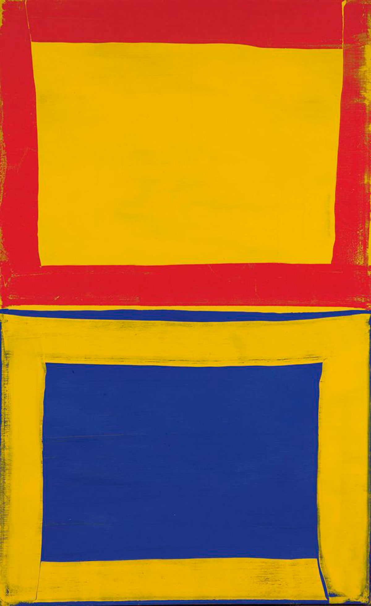 First Three For Two Red, Yellow, Blue © Mary Heilmann