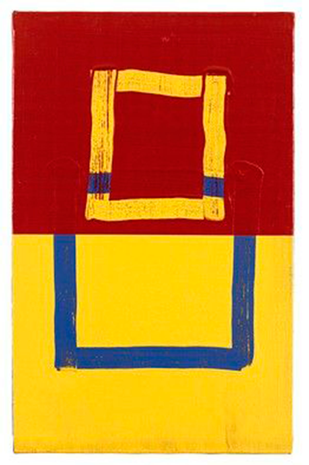 Red, Yellow & Blue Knot (1979) © Mary Heilmann