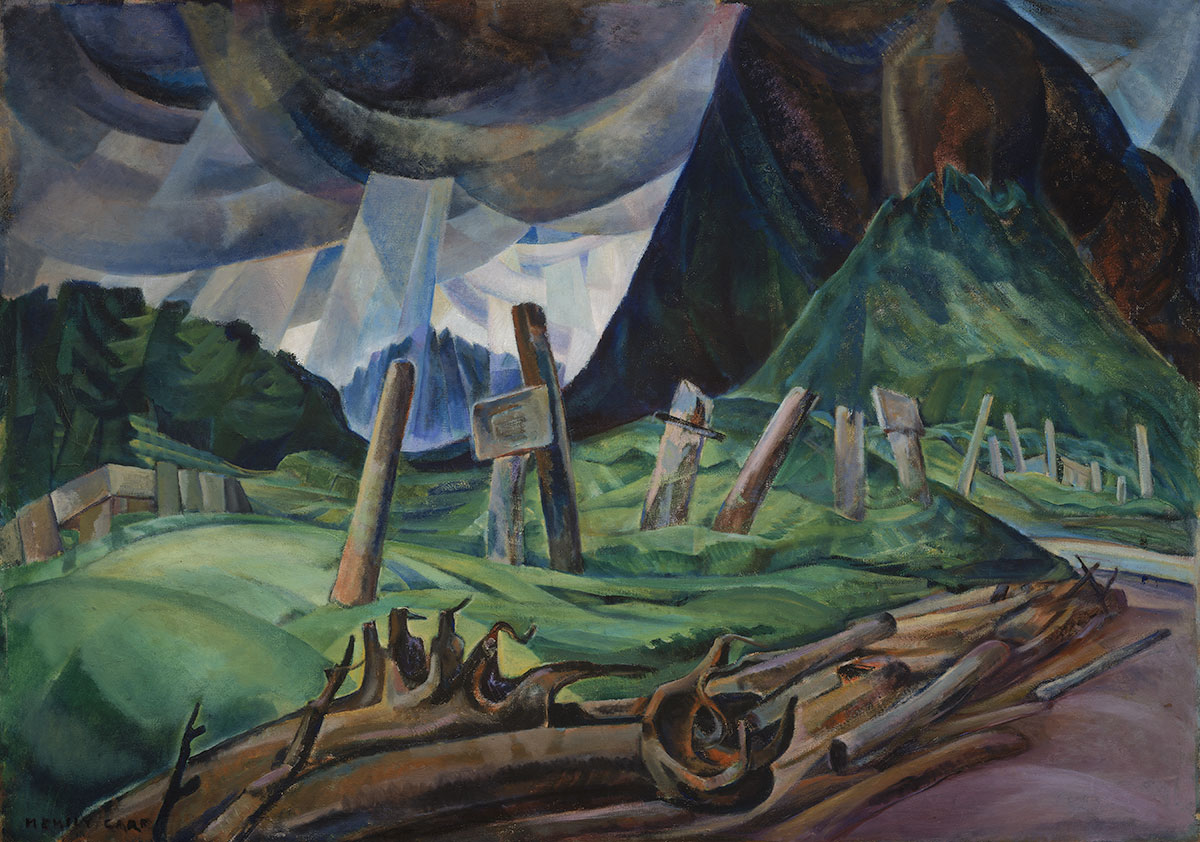 Emily Carr, Vanquished, 1930. Collection of the Vancouver Art Gallery, Emily Carr Trust, VAG 42.3.6. Photo: Trevor Mills, Vancouver Art Gallery