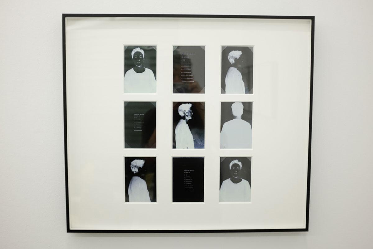 Ángeles Marco, Valencia 1947-2008 PRESENTE INSTANTE # 2, 19919 fotografias blanco y negro/ 55 x 63 x 5 cm. Cortesía Espaivisor