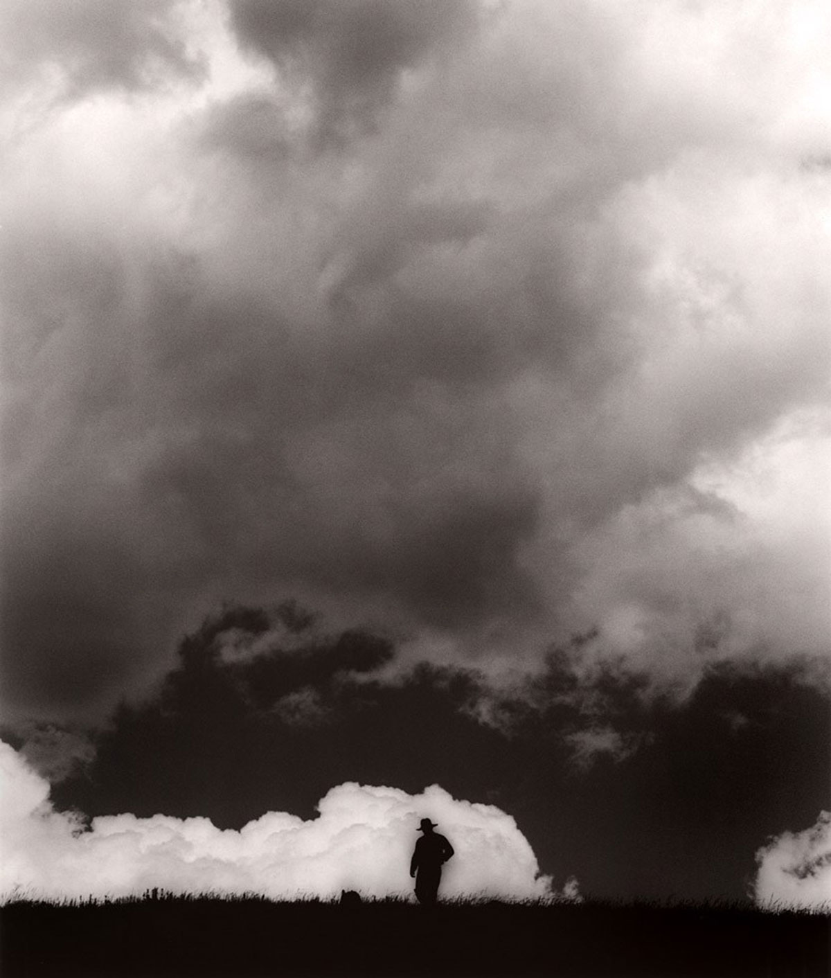 Steve Hammer in the Clouds, Burns, Colorado, 2009 © Michael Crouser