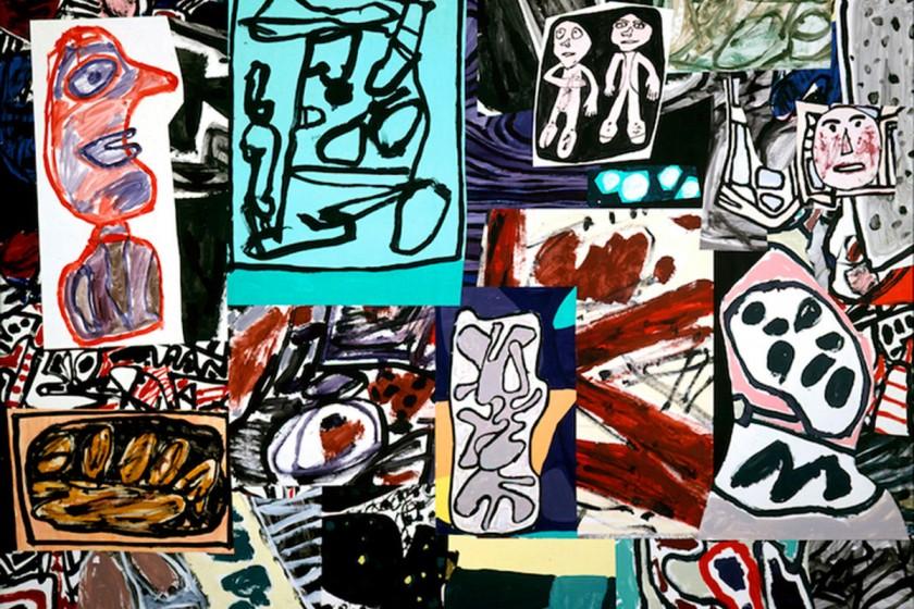 """Jean Dubuffet """"Les données de I'instant"""" 1977."""