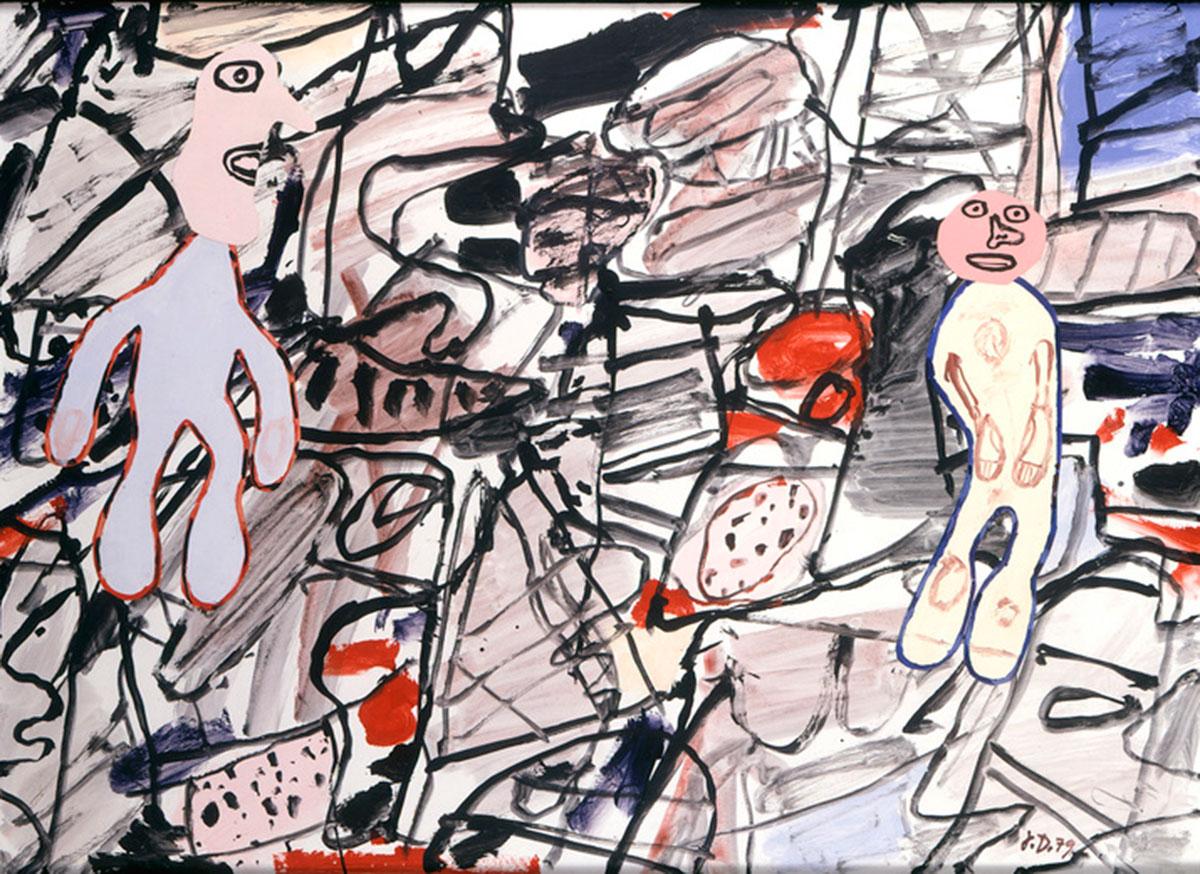 """Jean Dubuffet """"Scène et site"""" October 27, 1979."""