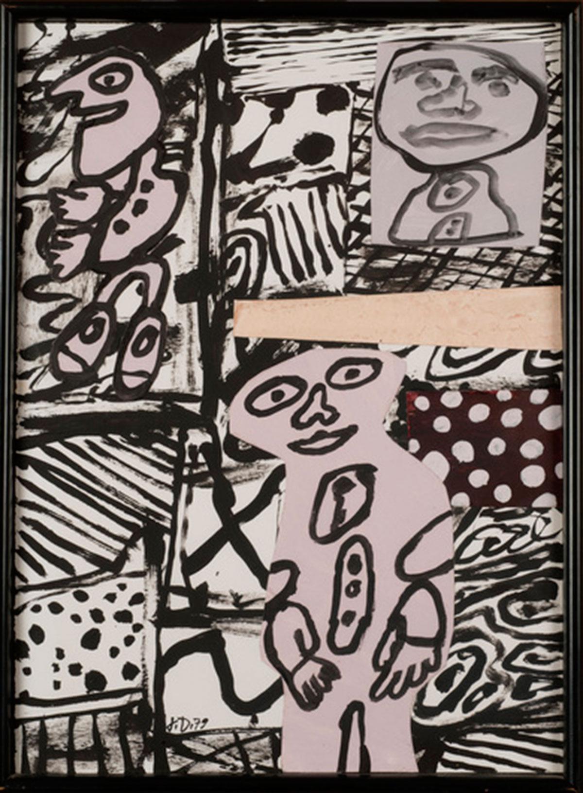 "Jean Dubuffet ""Séquence XVIII"" April 2, 1979."