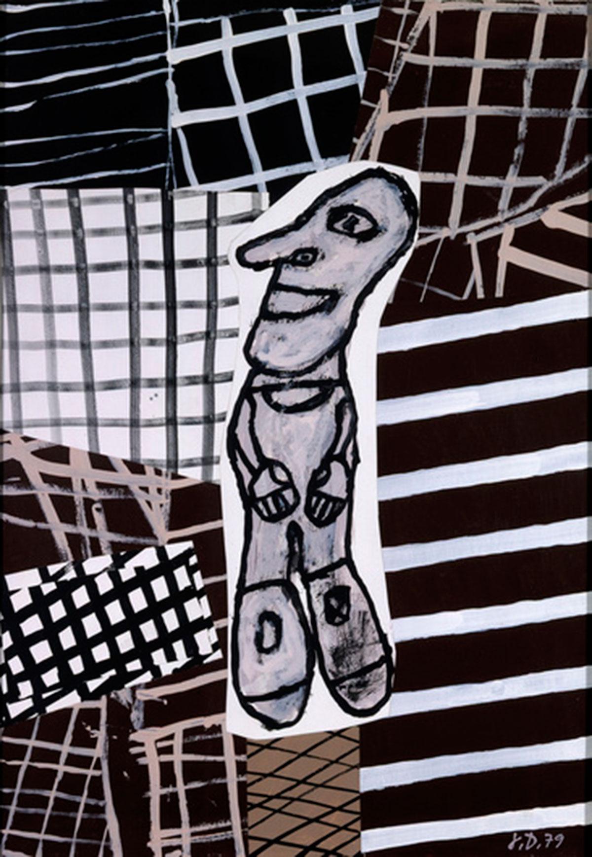 "Jean Dubuffet ""Expectative"" August 24, 1979."