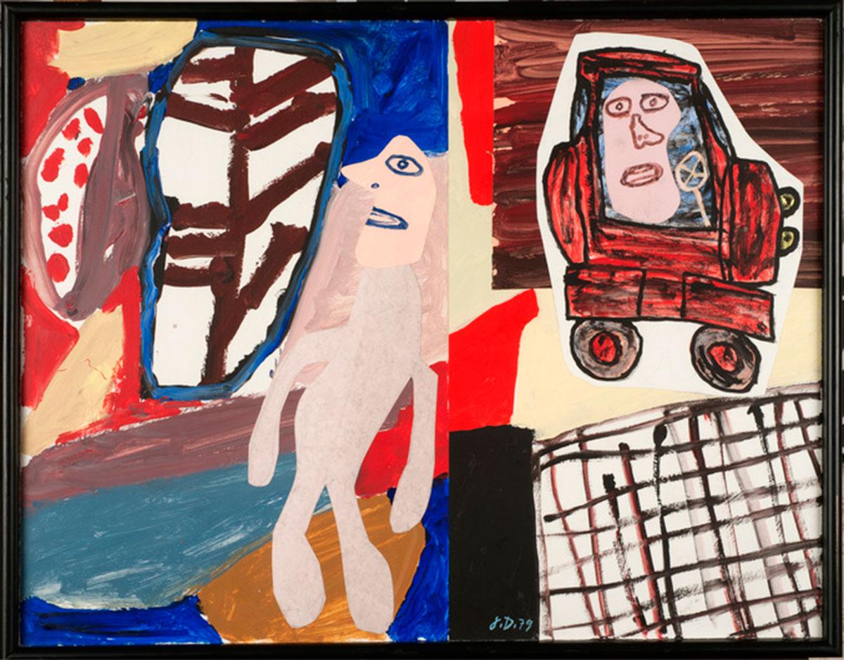 "Jean Dubuffet ""Site avec auto"" November 12, 1979."