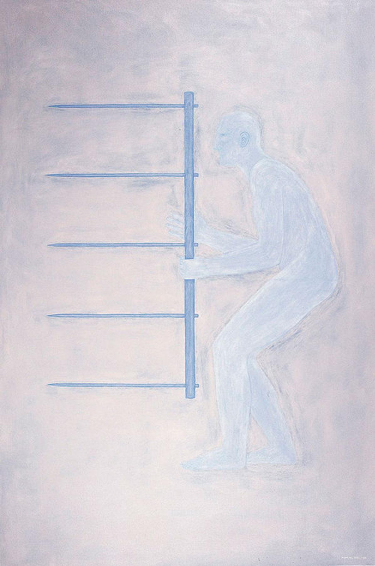 Autorretrato 1984. Serie Calvos