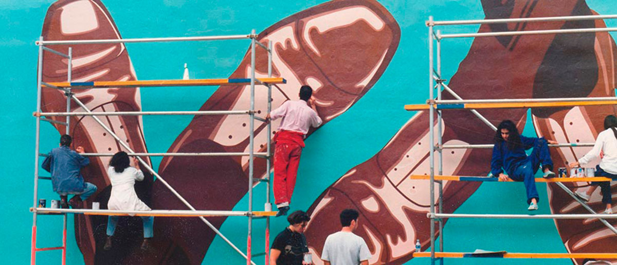 Aquiles mural efimero 1993. Serie Aquiles
