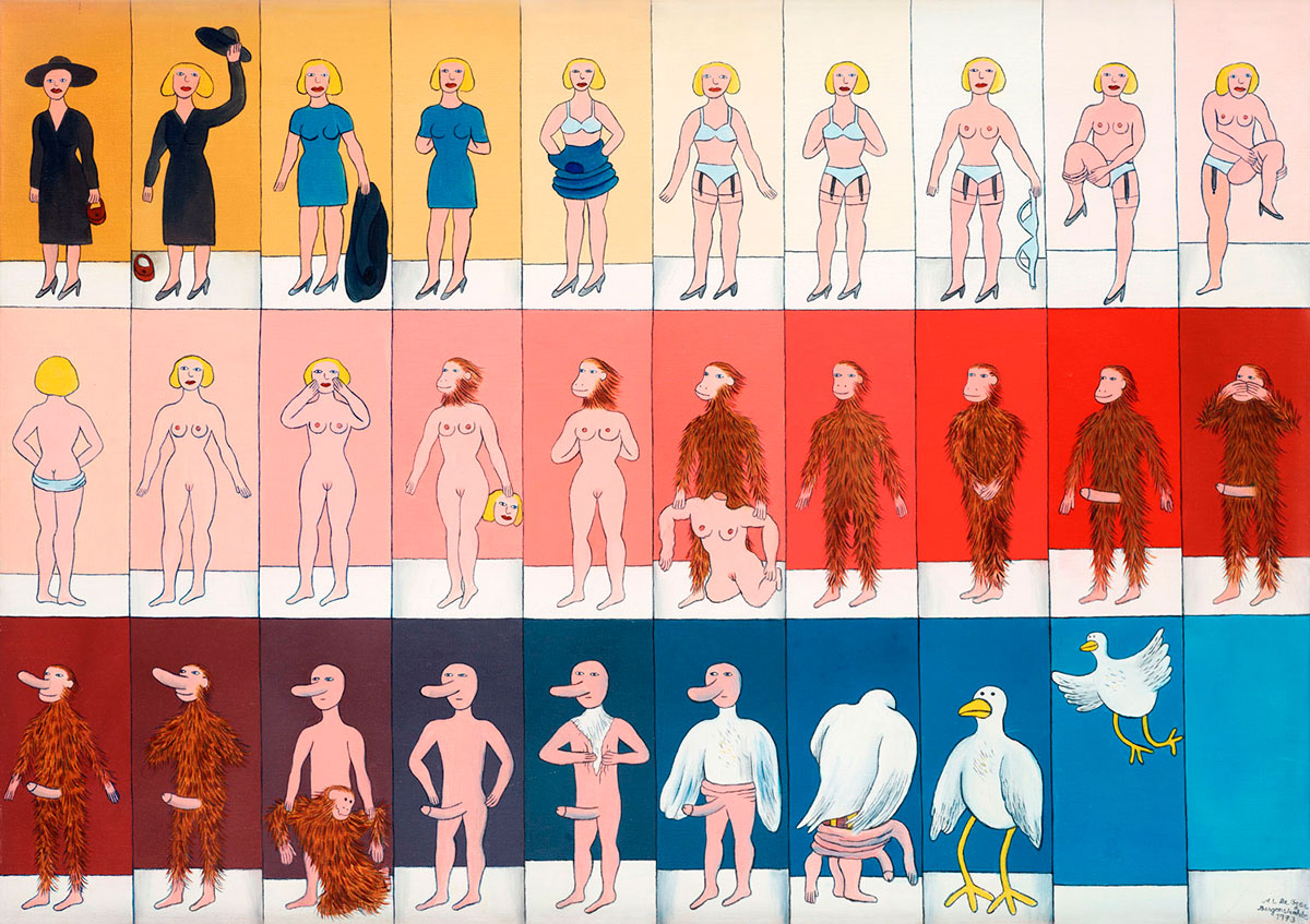 Marie-Louise Ekman, Striptease, 1973 © Marie-Louise Ekman / Bildupphovsrätt 2017