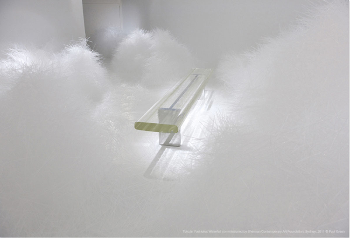 Waterfall Made of 300,000 Plastic Straws by Tokujin Yoshioka