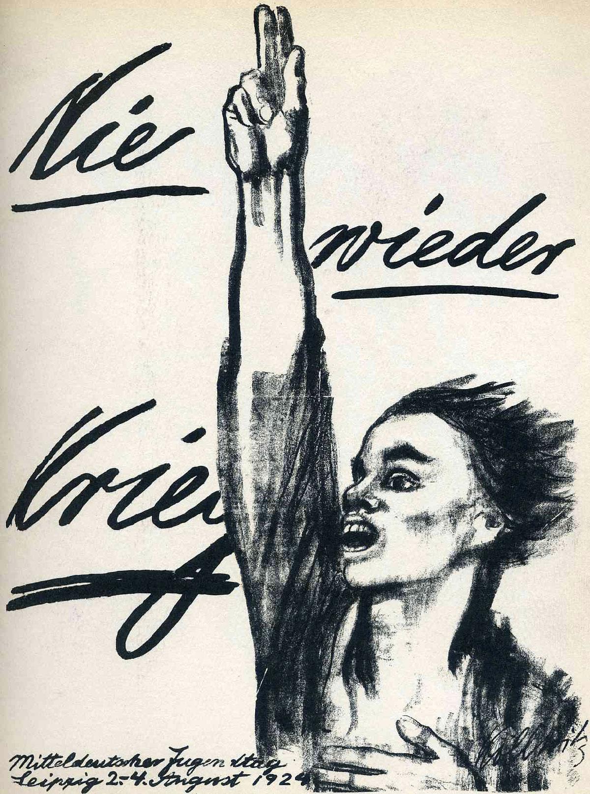 """""""Nunca más guerra"""", 1924"""